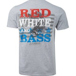 Men's Red White Bass T-shirt