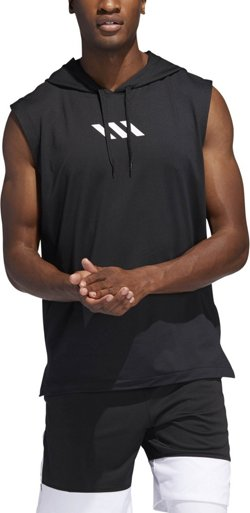 adidas Men's Pro Madness Sleeveless Basketball Hoodie