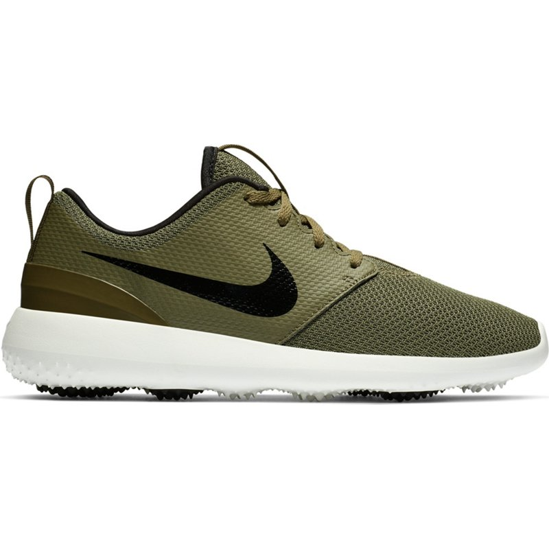 Nike Men's Roshe Golf Shoes O/Black/Summit White, 11 - Men's Golf Shoes at Academy Sports
