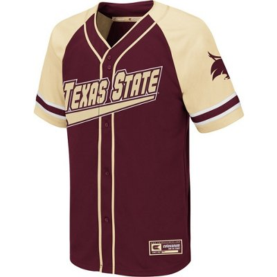 the latest c1945 38f0d Colosseum Athletics Boys' Texas State University Wallis Baseball Jersey