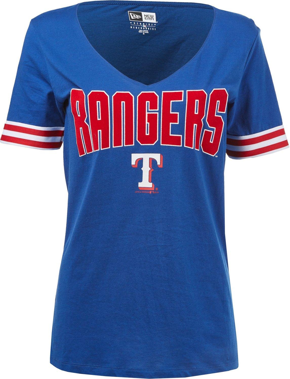 e3e615639 New Era Women's Texas Rangers Baby Jersey Short Sleeve Shirt