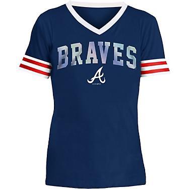 premium selection e6068 cf7c2 New Era Girls' Atlanta Braves Baby Jersey Short Sleeve Shirt