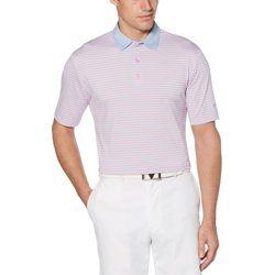 Men's Cooling 3-Stripe Golf Polo Shirt
