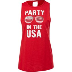 Women's Party in the USA Knot Back Tank Top