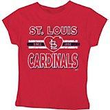 192aa55a Stitches Girls' St. Louis Cardinals Heart Strike T-shirt