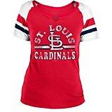 9b6a68ece New Era Women s St. Louis Cardinals Split Scoop Baby Jersey Shirt