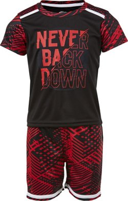 Toddler Boys' Never Back Down 2-Piece T-shirt and Shorts Set