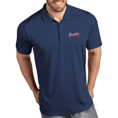 160b88b8ab90e ... Antigua Men's Atlanta Braves Tribute Polo Shirt. Braves Clothing.  Hover/Click to enlarge