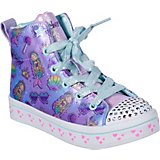 SKECHERS Girls' Twinkle Toes Twi-Lites Mermaid Party High-Top Shoes