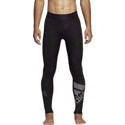 adidas Men's Alphaskin Sport Badge of Sport Compression Training Pants