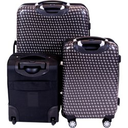 Metal Chain 3-Piece Luggage Set