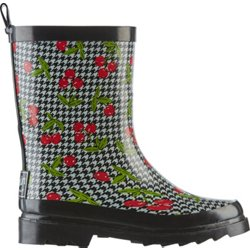 Girls' Cherry Houndstooth Rain Boots
