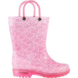Toddler Girls' Mermaid Scale Lighted Boots