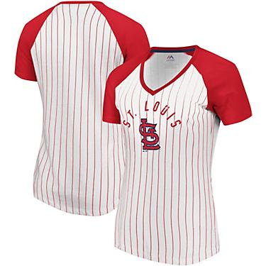 buy popular 7ce40 975ed Majestic Women's St. Louis Cardinals Paid Our Dues Short Sleeve T-shirt