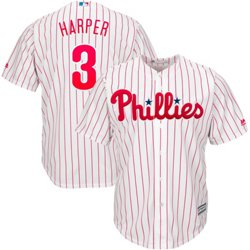 Men's Philadelphia Phillies Bryce Harper 3 COOL BASE Jersey