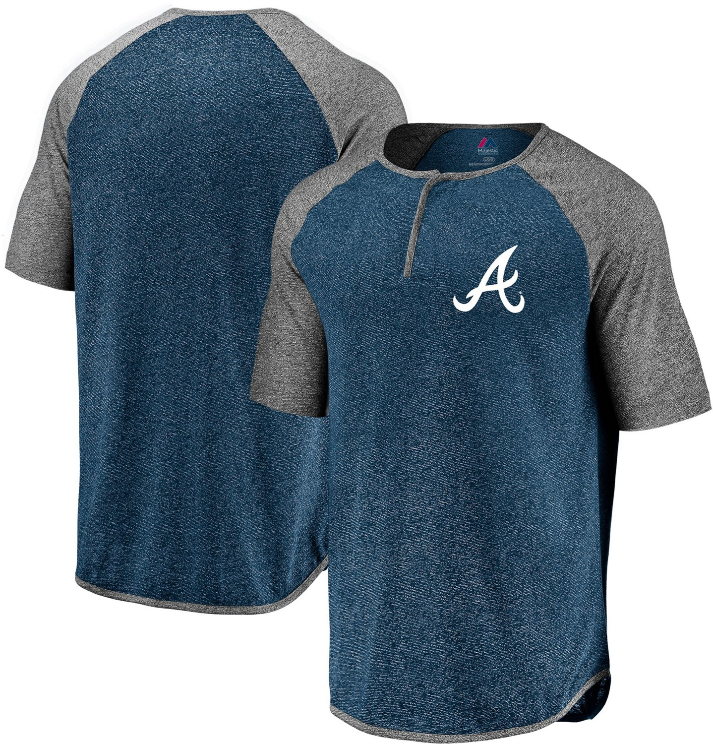 6b414eda13a9f Display product reviews for Majestic Men's Atlanta Braves Keeping Count  Henley T-shirt