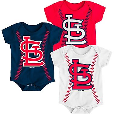 6a6fc6be Majestic Infant Boys' St. Louis Cardinals Running Home Baseball Creepers  3-Pack