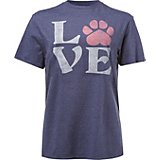Live Outside the Limits Women's Love Paw Short Sleeve T-shirt