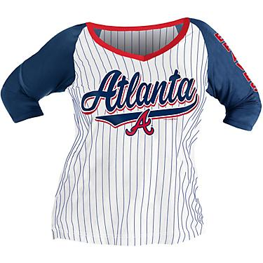 best loved 606de 3e74d New Era Women's Atlanta Braves Pinstripe Plus Size 3/4 Sleeve Top