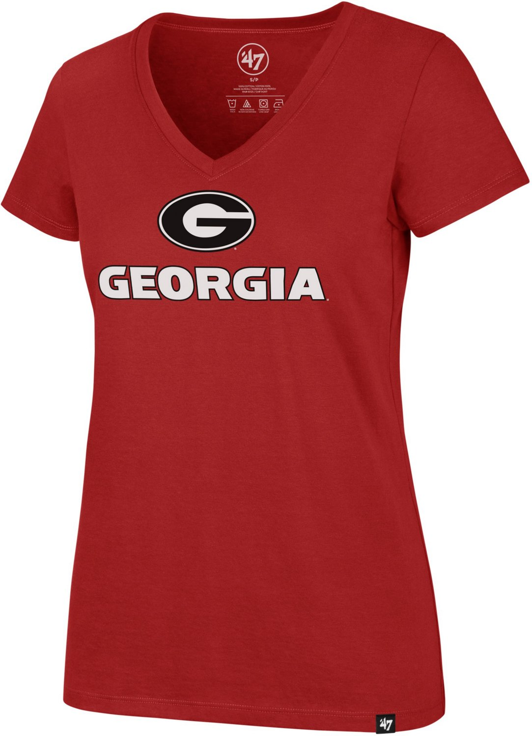 773b5d92b9e '47 University of Georgia Women's Imprint Ultra Rival V-neck T-shirt |  Academy