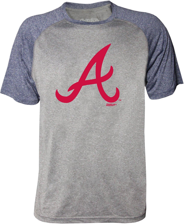 pretty nice 48b54 c2525 Stitches Men's Atlanta Braves Raglan T-shirt