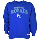 221e7a710 Stitches Men's Kansas City Royals Crew Neck Pullover Fleece