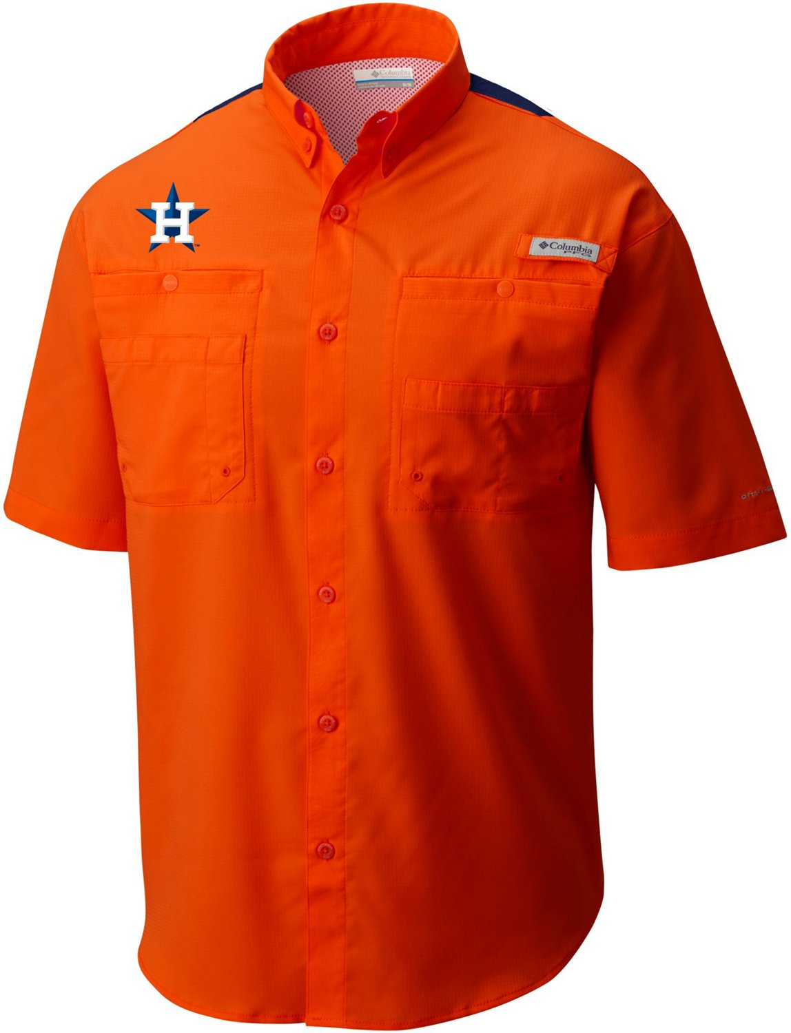 b05727db Display product reviews for Columbia Sportswear Men's Houston Astros Color  Blocked Tamiami Shirt