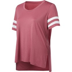 Women's Varsity Mesh Plus Size T-shirt