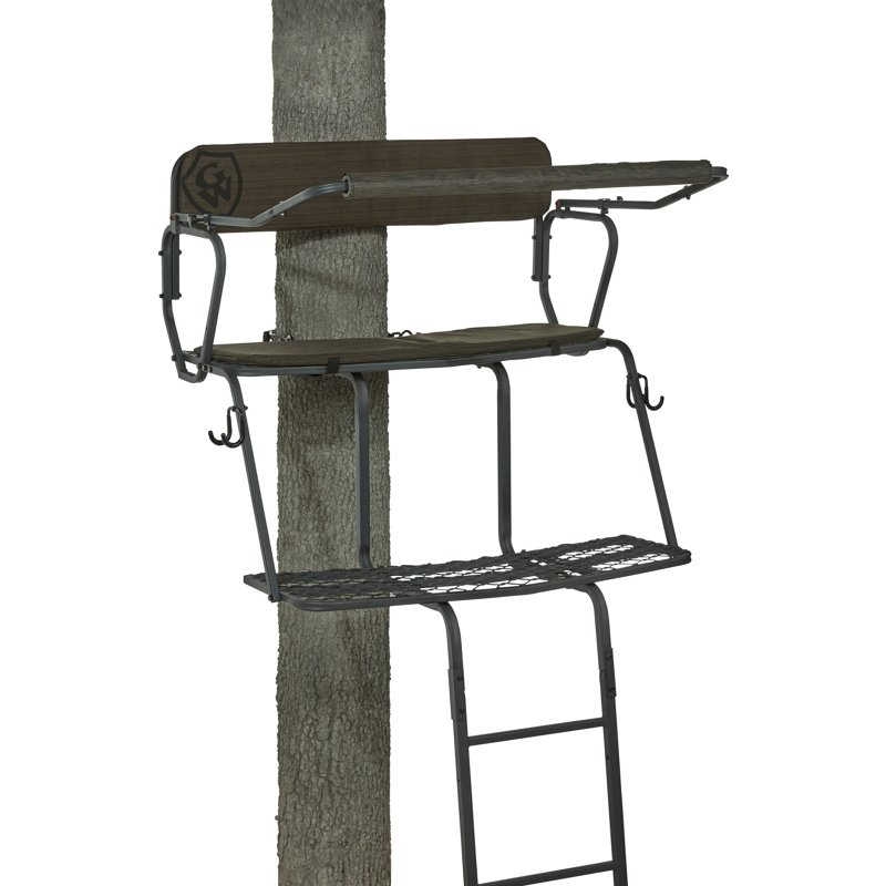Game Winner 2-Man Ladder Treestand 2.0 Black – Hunting Stands/Blinds/Accessories at Academy Sports