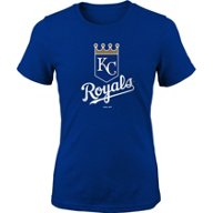 Majestic Girls' Kansas City Royals Primary Logo Short Sleeve T-shirt