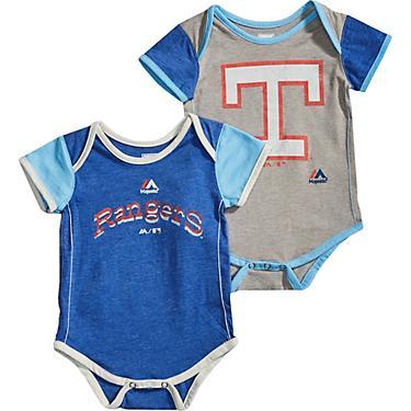 fd3288714 Majestic Infant Boys' Texas Rangers Vintage Baby Onesie Set