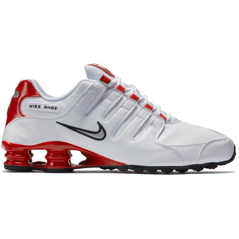 799b9007a5 Nike Men's Shox NZ Running Shoes White/Red, 9.5 - Men's Running at Academy