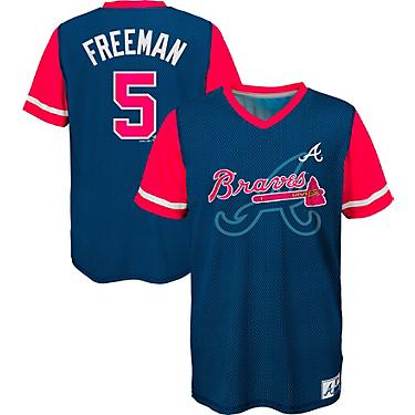 separation shoes dc4df b8547 Majestic Boys' Atlanta Braves Freddie Freeman 5 Play Hard Jersey T-shirt
