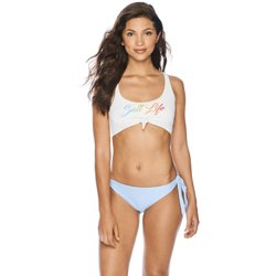 Women's Tie Front Graphic Swim Top