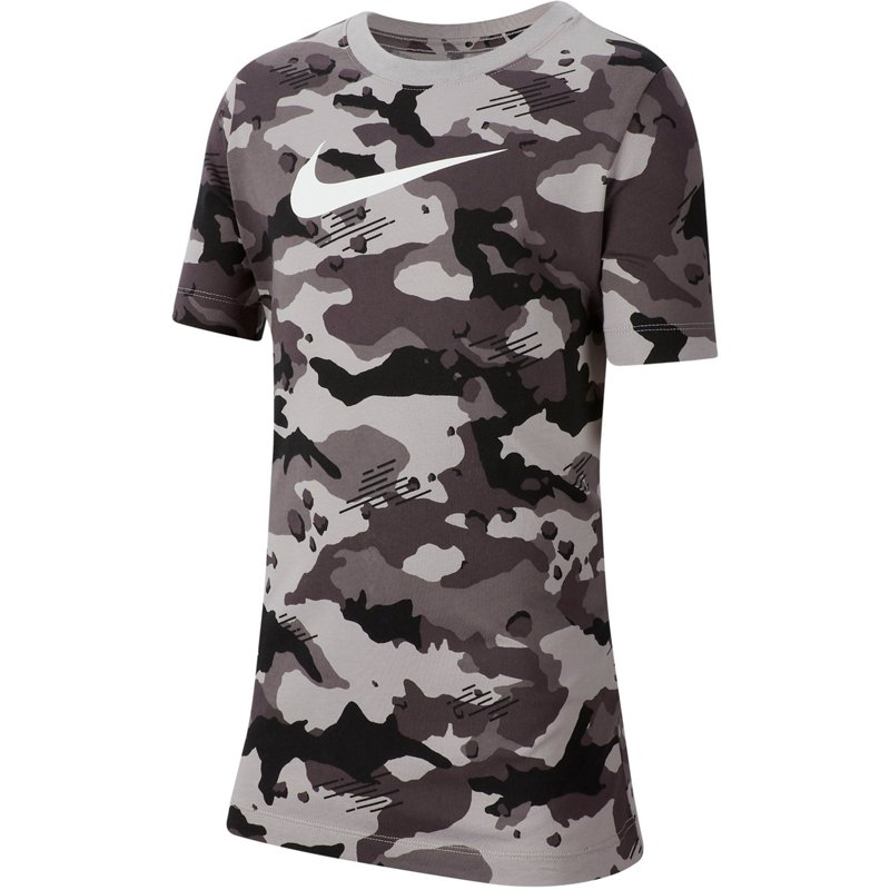 Nike Boys' Sportswear Camo T-shirt Aosphere Gray/White, Large – Boy's Athletic Tops at Academy Sports