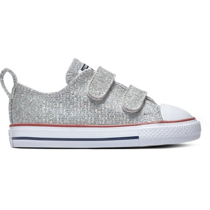 b668e3d70c4d Converse Infants  Chuck Taylor All-Star Hook and Loop Sparkle Low ...
