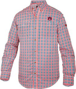 Men's Auburn University Gingham Plaid Wingshooter's Shirt