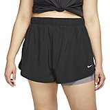 Nike Women's Flex 2-in-1 Woven Plus Size Training Shorts