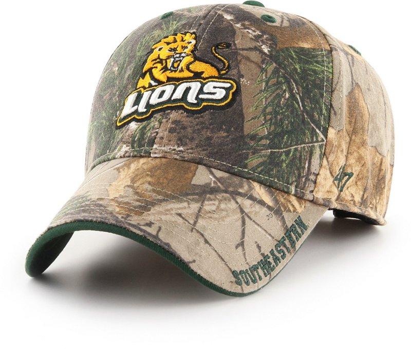'47 Southeastern Louisiana University Realtree Frost Ball Cap Dark Green/Brown - NCAA Men's Caps at Academy Sports thumbnail