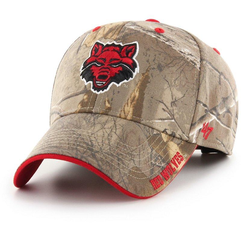 '47 Arkansas State University Realtree Frost Ball Cap Dark Green/Brown - NCAA Men's Caps at Academy Sports thumbnail