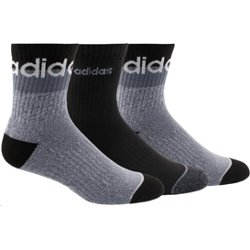 adidas Men's 3-Stripe Quarter Socks 3 Pack