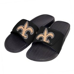 Boys' New Orleans Saints Cropped Big Logo Slide Sandals