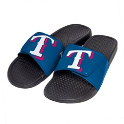 Boys' Texas Rangers Cropped Big Logo Slides
