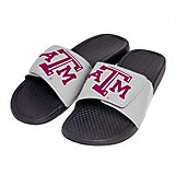 Forever Collectibles Men's Texas A&M University Cropped Big Logo Slides