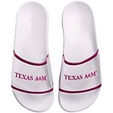 Forever Collectibles Women's Texas A&M University Clear Wordmark Slide Flip-Flops