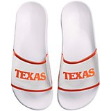 Forever Collectibles Women's University of Texas Clear Wordmark Slide Flip-Flops