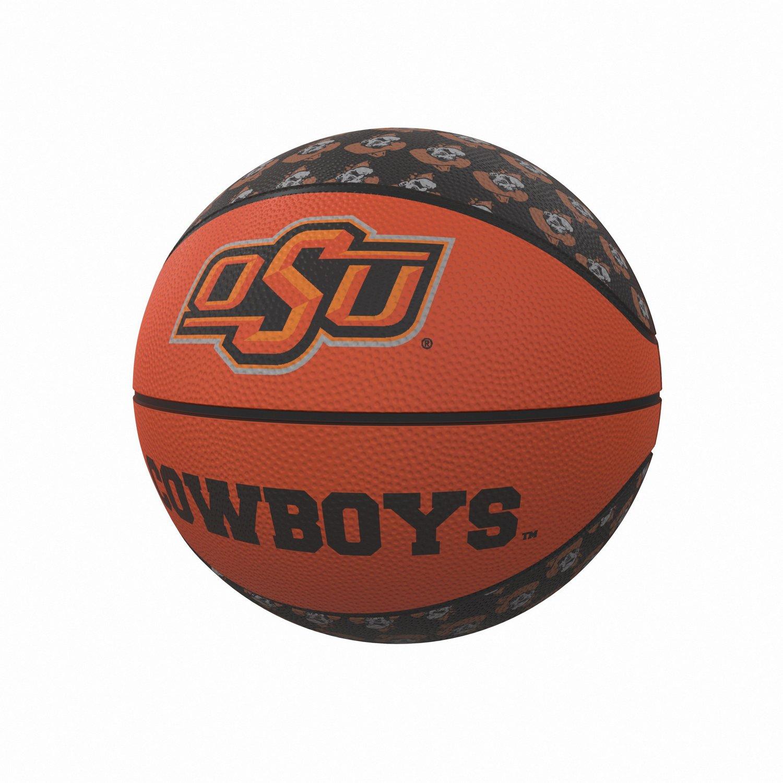 Logo Oklahoma State University Repeating Logo Mini Size Rubber Basketball