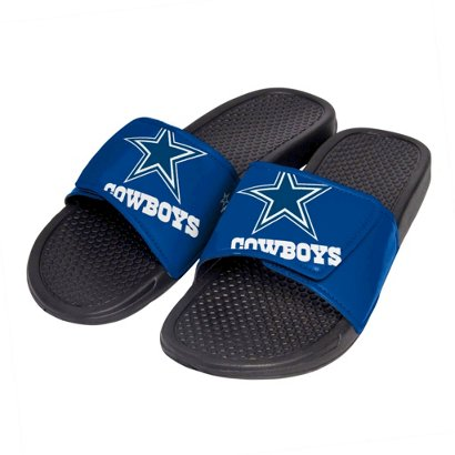 00f42c2555a Forever Collectibles Boys  Dallas Cowboys Cropped Big Logo Slide ...