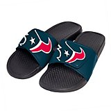 Forever Collectibles Men's Houston Texans Cropped Big Logo Slides