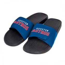 Boys' Houston Astros Cropped Big Logo Slide Sandals